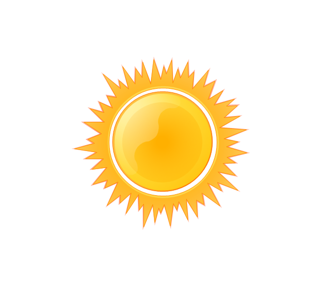 pict sunny weather vector